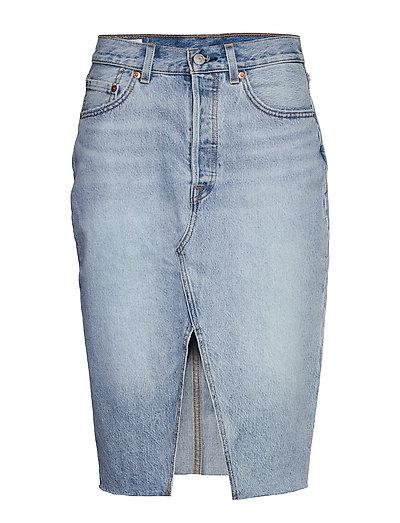 Deconstructed Midi Skirt Broke Knielanges Kleid Blau LEVI'S WOMEN