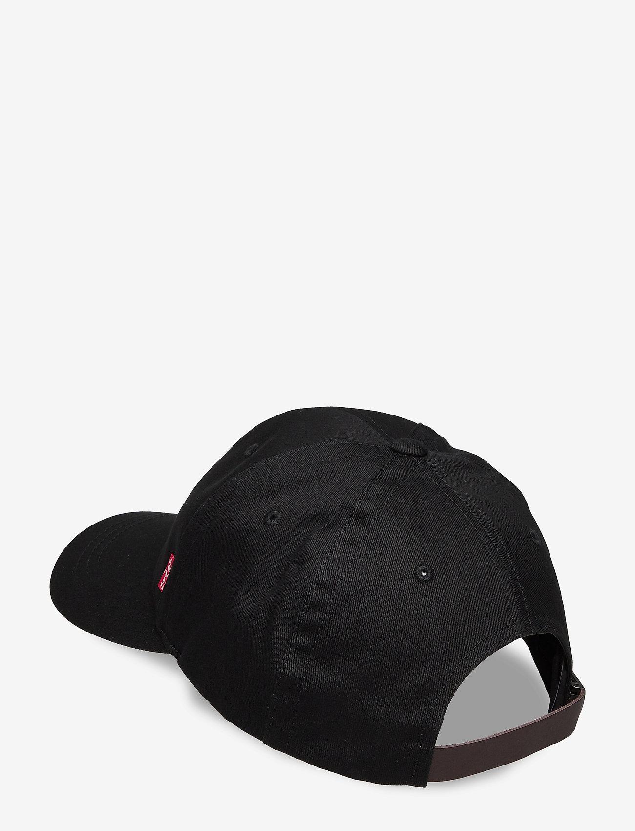 Levi's Footwear & Acc - CLASSIC TWILL RED TAB BASEBALL CAP - kepsar - regular black - 1