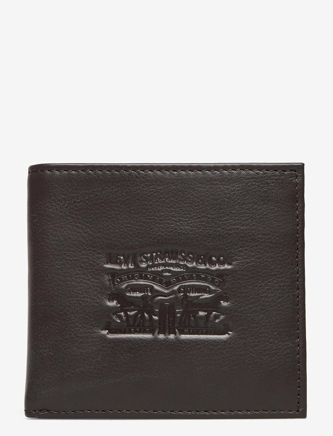 Levi's Footwear & Acc - VINTAGE TWO HORSE BIFOLD COIN WALLET - portefeuille classique - dark brown - 0