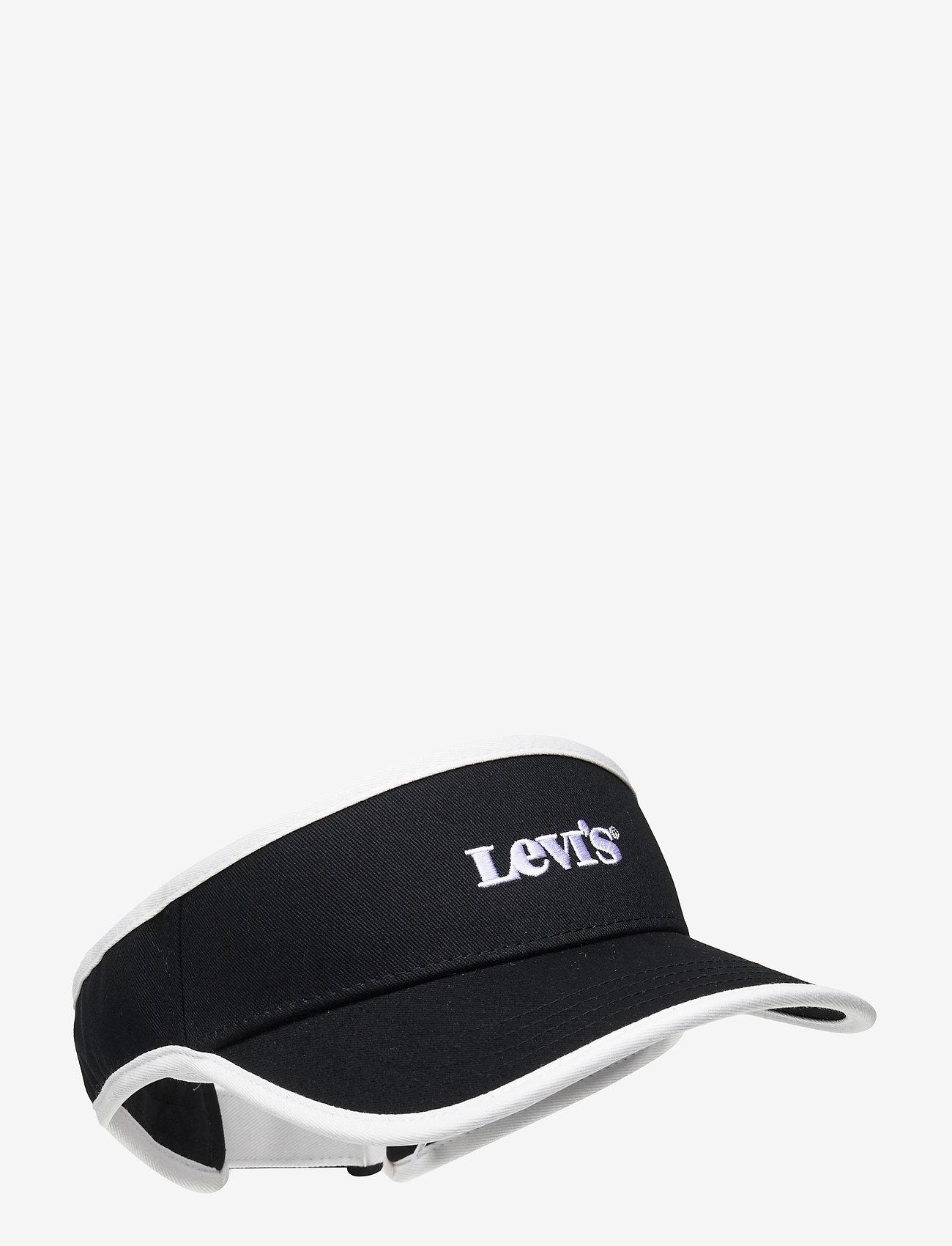 Levi's Footwear & Acc - Visor Cap - Vintage Modern Logo - casquettes - regular black - 0
