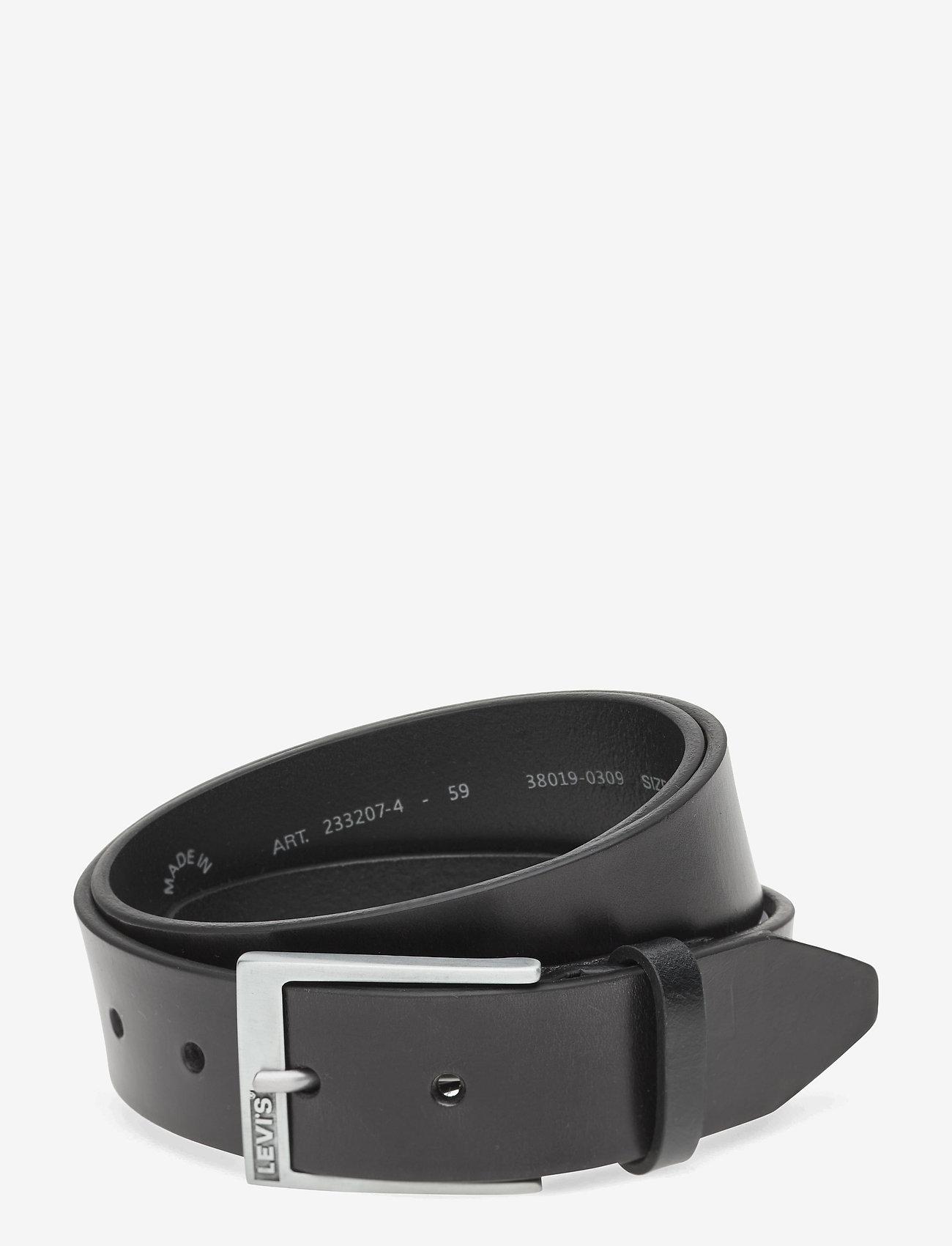 Levi's Footwear & Acc - Box Tab Belt - paski klasyczne - regular black - 0