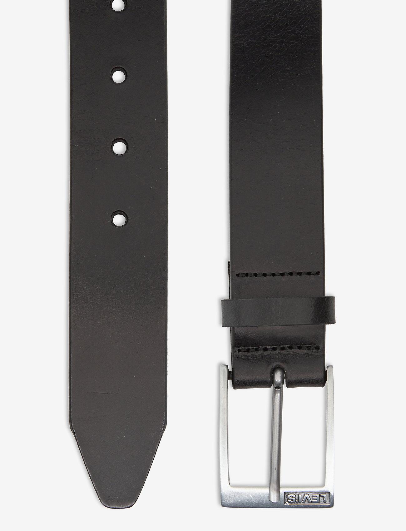 Levi's Footwear & Acc - Box Tab Belt - paski klasyczne - regular black - 1