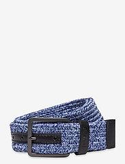Levi's Footwear & Acc - Levi's Woven Stretch Belt - flätade skärp - navy blue - 0