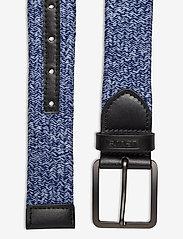 Levi's Footwear & Acc - Levi's Woven Stretch Belt - flätade skärp - navy blue - 1