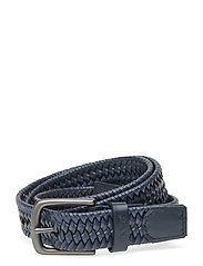 Levi's Woven Leather Stretch Belt - NAVY BLUE