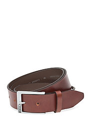 Box Tab Belt - BROWN