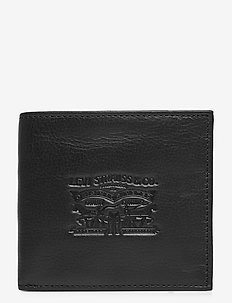 VINTAGE TWO HORSE BIFOLD COIN WALLET - portefeuille classique - regular black