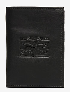 VINTAGE TWO HORSE VERTICAL COIN WALLET - REGULAR BLACK