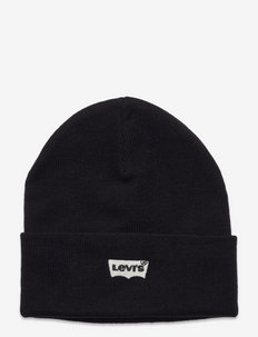 BATWING EMBROIDERED SLOUCHY BEANIE - huer - regular black
