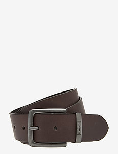 NEW ALBERT METAL - belts - dark brown