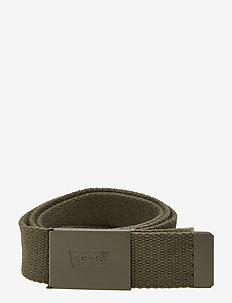 TONAL WEB BELT - belts - dark khaki