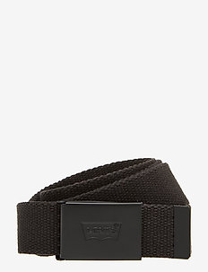 TONAL WEB BELT - belts - regular black
