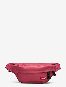 Medium Banana Sling - Embroidered Batwing - DULL RED