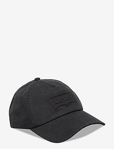 Washed Debossed Big Batwing Cap - czapki - regular black