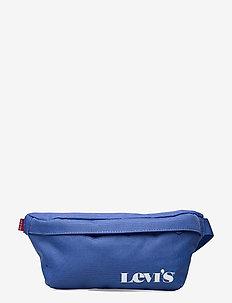 Small Banana Sling - Vintage Modern Logo - magväskor - jeans blue