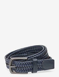Levi's Woven Leather Stretch Belt - braided belts - navy blue