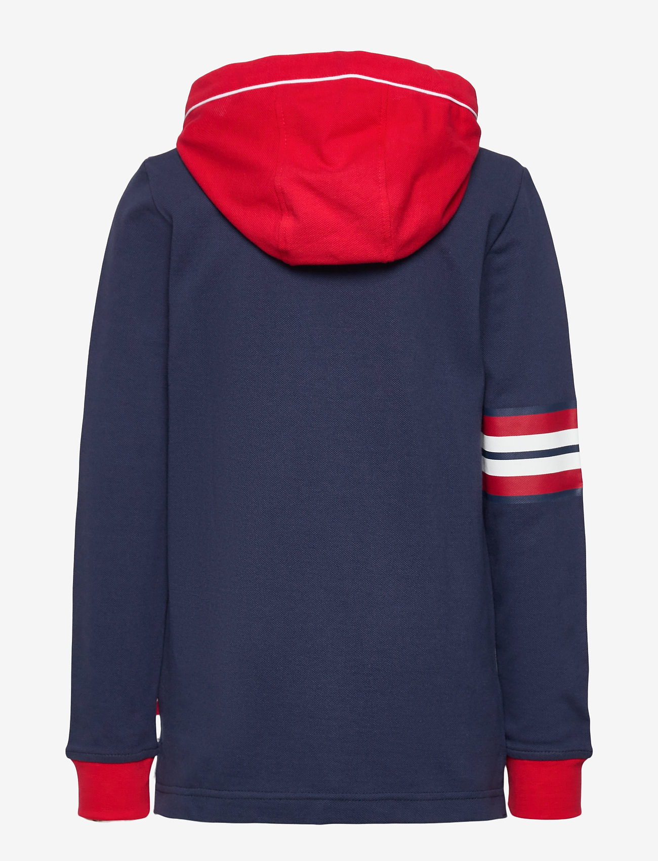 Levi's - LVB LS PIPED HOODED HENLEY - kapuzenpullover - dress blues - 1