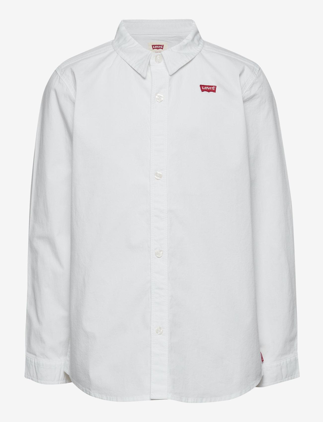 Levi's - LVB LS WOVEN BUTTON UP SHIRT - overhemden - white - 0