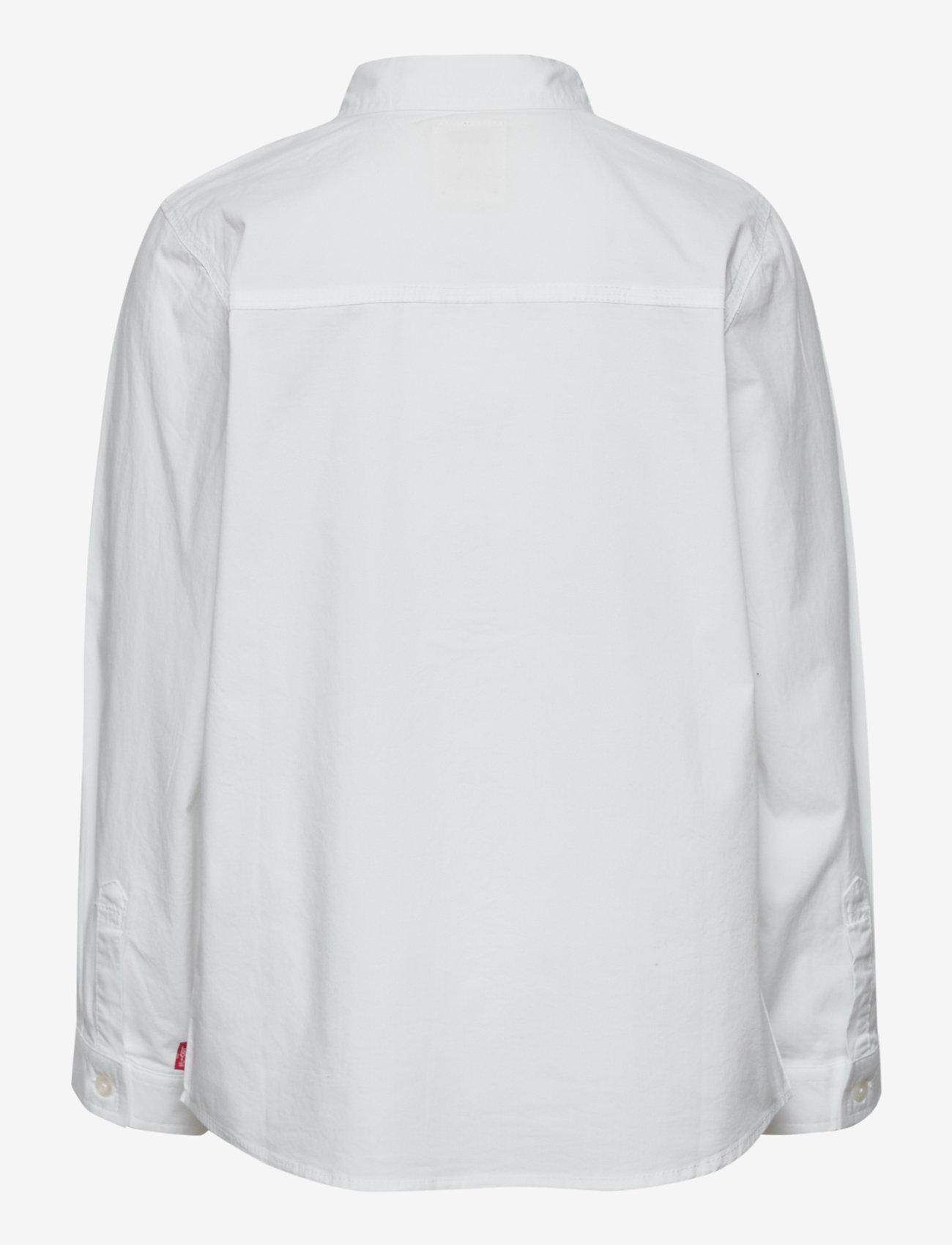 Levi's - LVB LS WOVEN BUTTON UP SHIRT - overhemden - white - 1