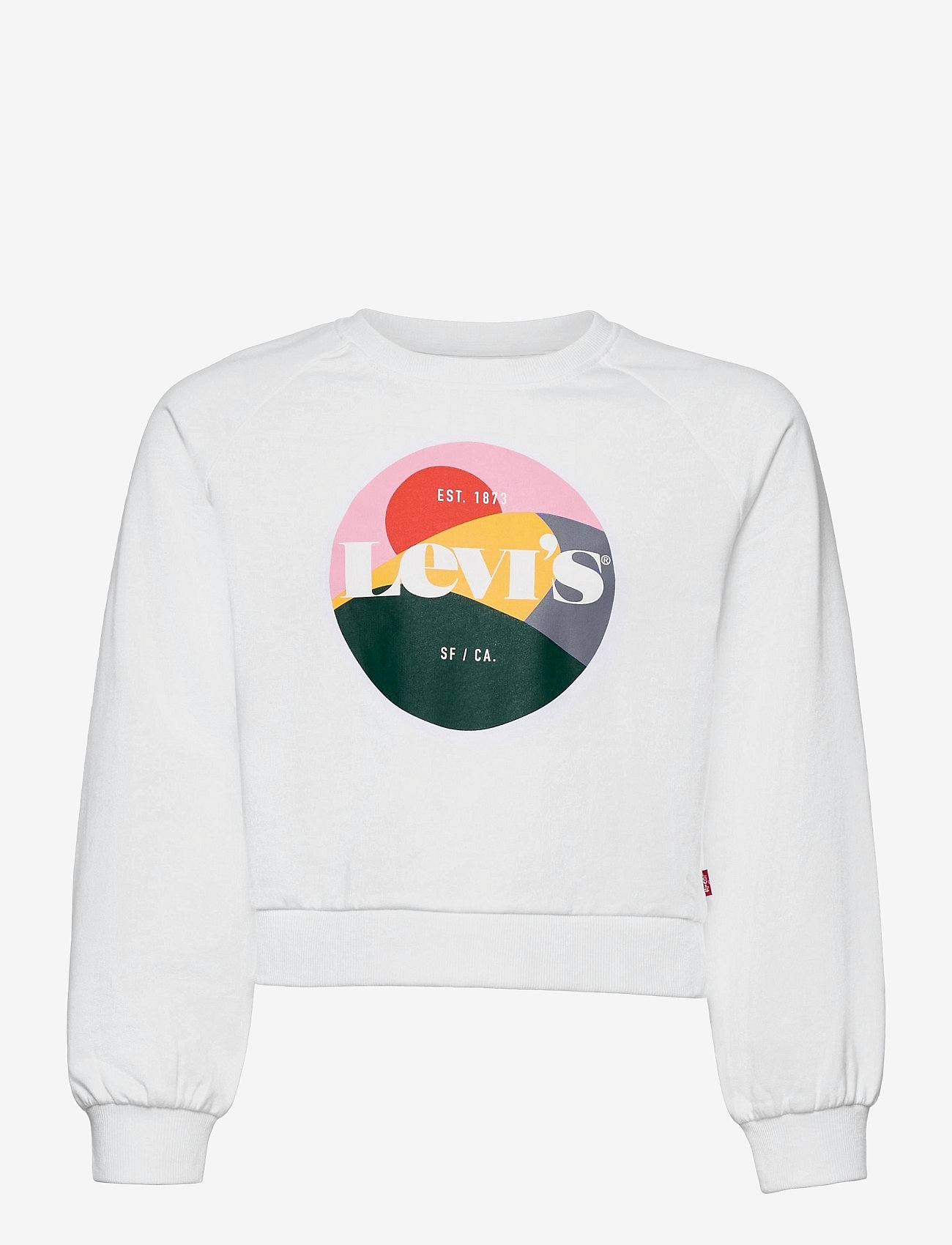 Levi's - LVG HIGH RISE RAGLAN CREW - sweatshirts - white - 0