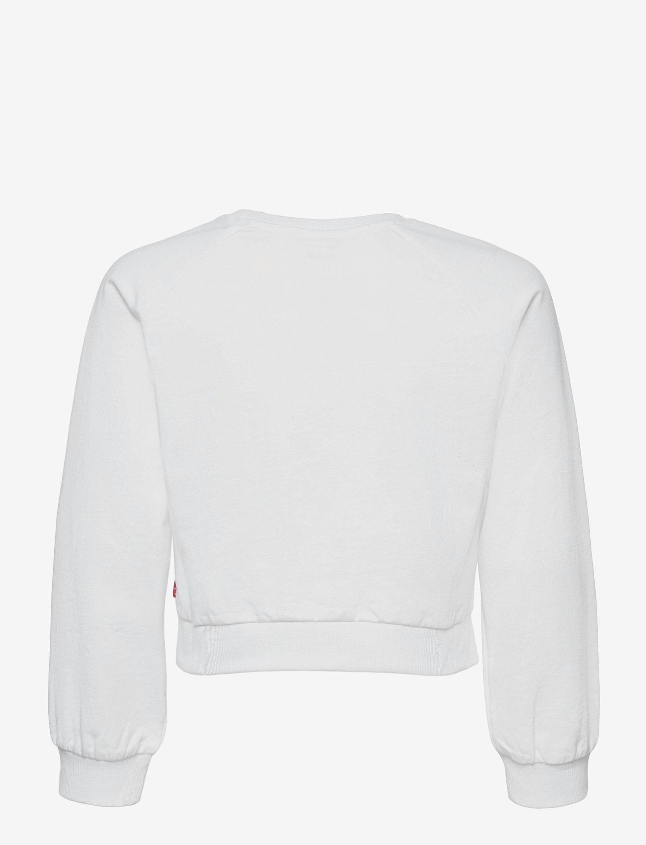 Levi's - LVG HIGH RISE RAGLAN CREW - sweatshirts - white - 1