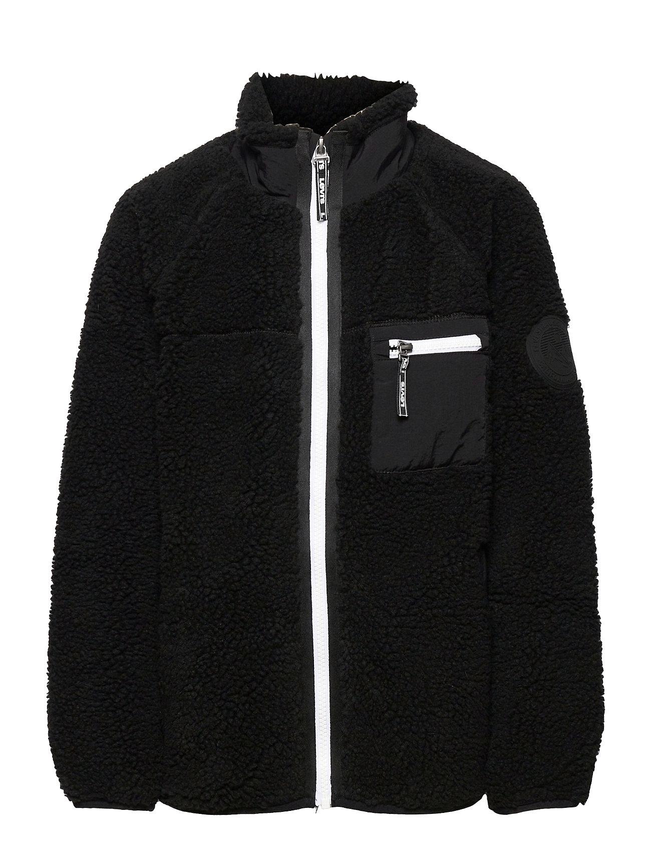 Lvb Sherpa Jacket Outerwear Fleece Outerwear Fleece Jackets Sort Levi's