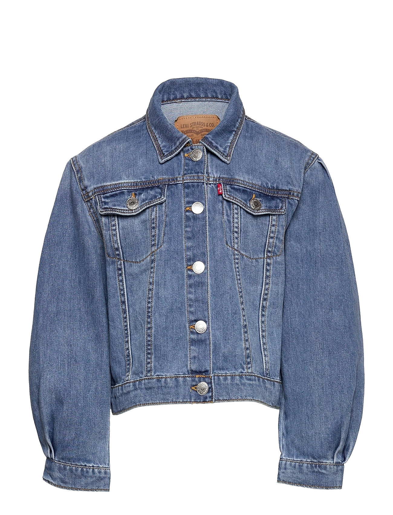 Lvg Over D Pleat Slv Truckr Outerwear Jackets & Coats Denim & Corduroy Blå Levi's