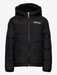 Levi's - LVB SHERPA HOOD LINING PUFFER - dunjakker & forede jakker - black - 0