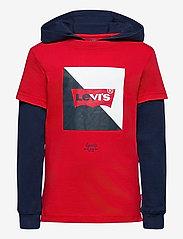 Levi's - LVB2FERPULLOVERHOODIE - hoodies - super red - 0