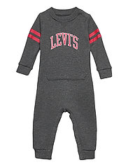 LVN COLLEGIATE KNIT COVERALL - CHARCOAL HEATHER