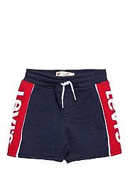 LVB RED TAB LOGO JOGGER SHORT - DRESS BLUES