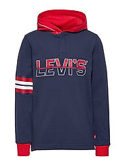 LVB LS PIPED HOODED HENLEY - DRESS BLUES