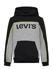 LVB PIPED PULLOVER HOODIE - BLACK