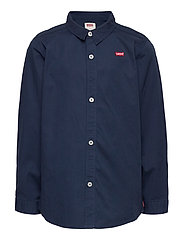 LVB LS WOVEN BUTTON UP SHIRT - DRESS BLUES