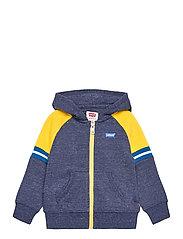 COLORBLOCK FULL-ZIP HOODIE - DRESS BLUES SNOW YARN
