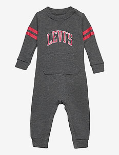 LVN COLLEGIATE KNIT COVERALL - langärmelig - charcoal heather