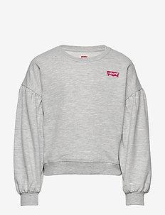 BALLOON SLEEVE CREW - sweatshirts - light gray heather