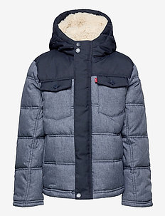 LVB QUILTED TRUCKER JACKET - boblejakker og fôrede jakker - dress blues