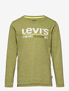 LVB LS STRIPED TEE - manches longues - olive night