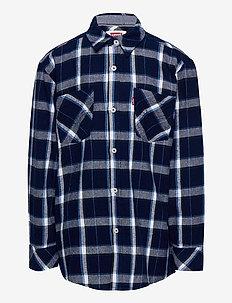 LVB LS WOVEN BUTTON UP SHIRT - chemises - dress blues