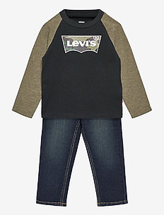 LVB RAGLAN TOP JEANS SET - 2-delige sets - olive night heather