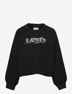 LVG HIGH RISE SLEEVE CREW - sweat-shirt - black