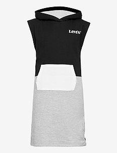LVG HOODIE SWEATSHIRT DRESS - jurken - black