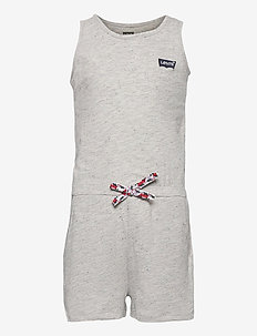 LVG KNIT ROMPER - kurzärmelig - grey heather
