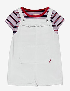 SHORTALLS & TEE SHIRT - 2-delige sets - white