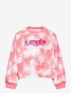 LVG HIGH RISE SLEEVE CREW - sweat-shirt - peony
