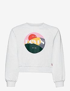 LVG HIGH RISE RAGLAN CREW - sweatshirts - white