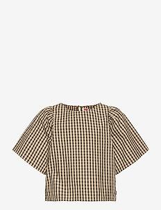 LVG FULL SS WOVEN TOP - blouses & tunieken - safari plaid