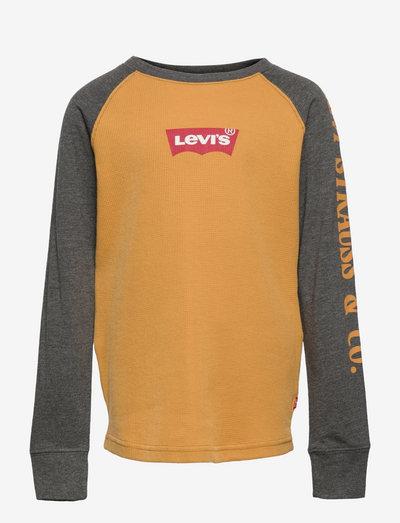 LVB LONG SLV WAFFLE TEE SHIRT - t-shirts - tinsel