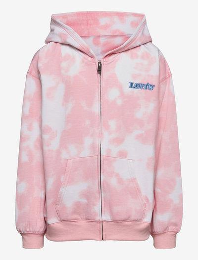 LVG FULL ZIP HOODIE - hoodies - almond tie dye